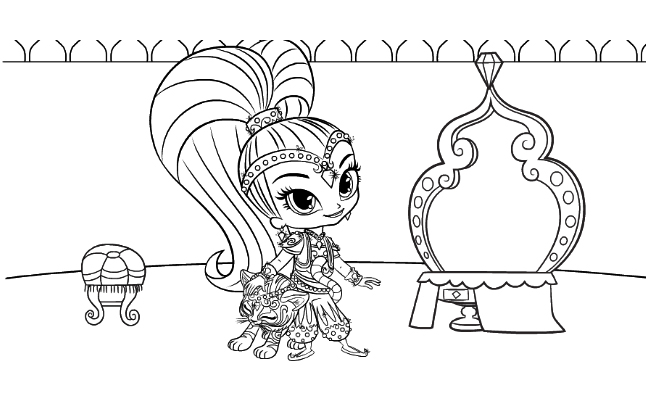 Free Printable Shimmer and Shine Coloring Pages