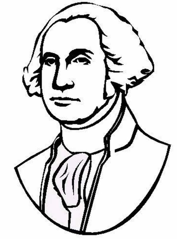 George Washington Bust Coloring Pages
