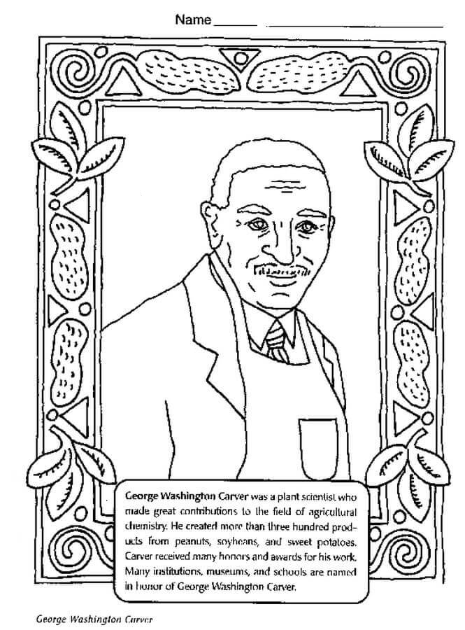 George Washington Carver Coloring Sheet