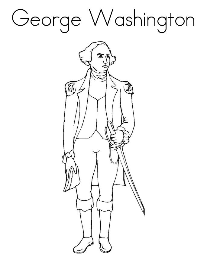 George Washington Coloring Sheets