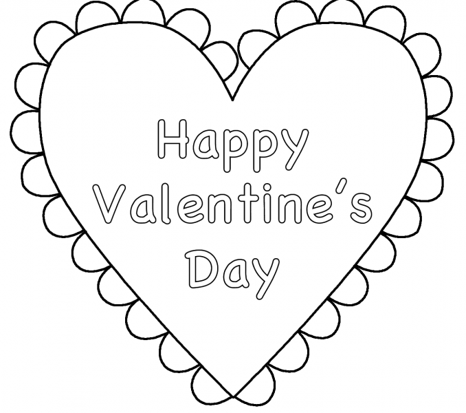Happy Valentines Day Coloring Pages - Heart