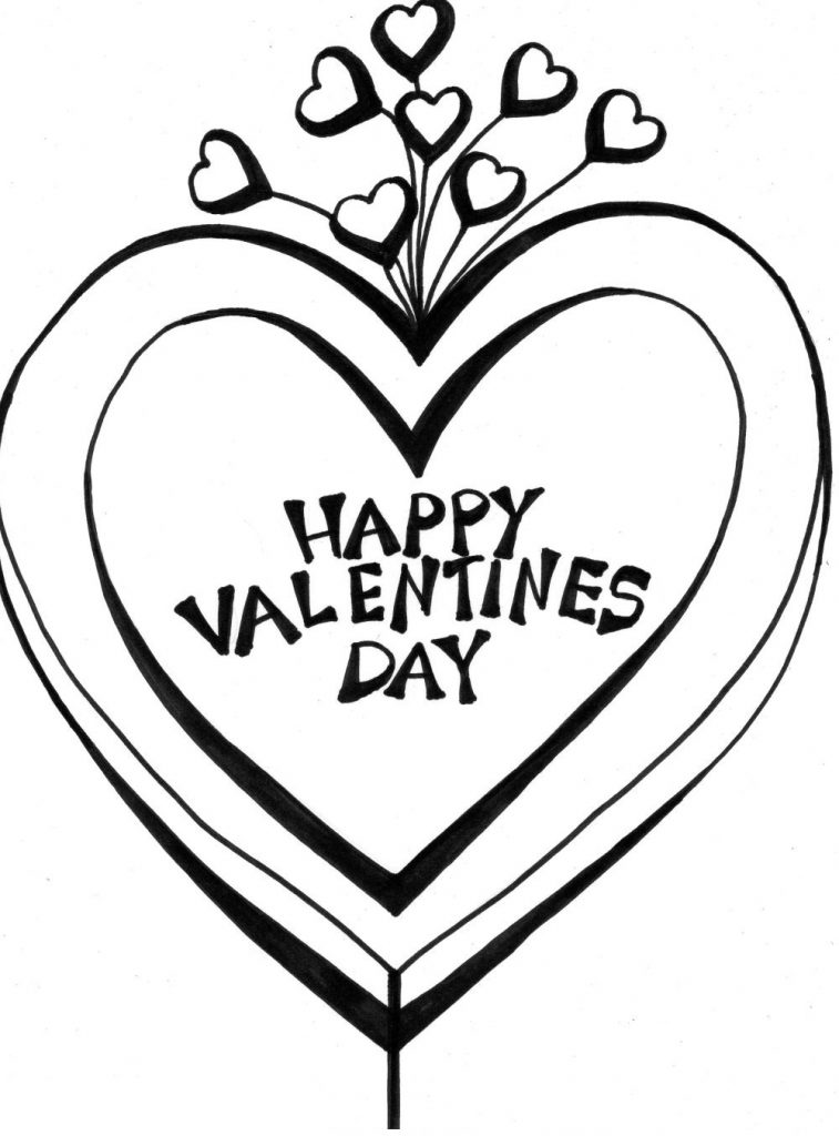 Happy Valentines Day Coloring Pages - Hearts