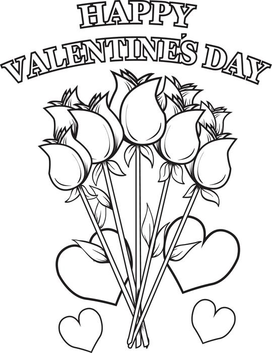 Modest image in printable valentines coloring pages