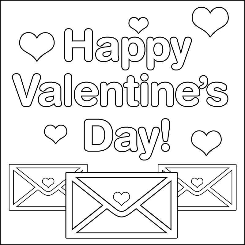 Happy Valentines Day Coloring Pages - Valentines