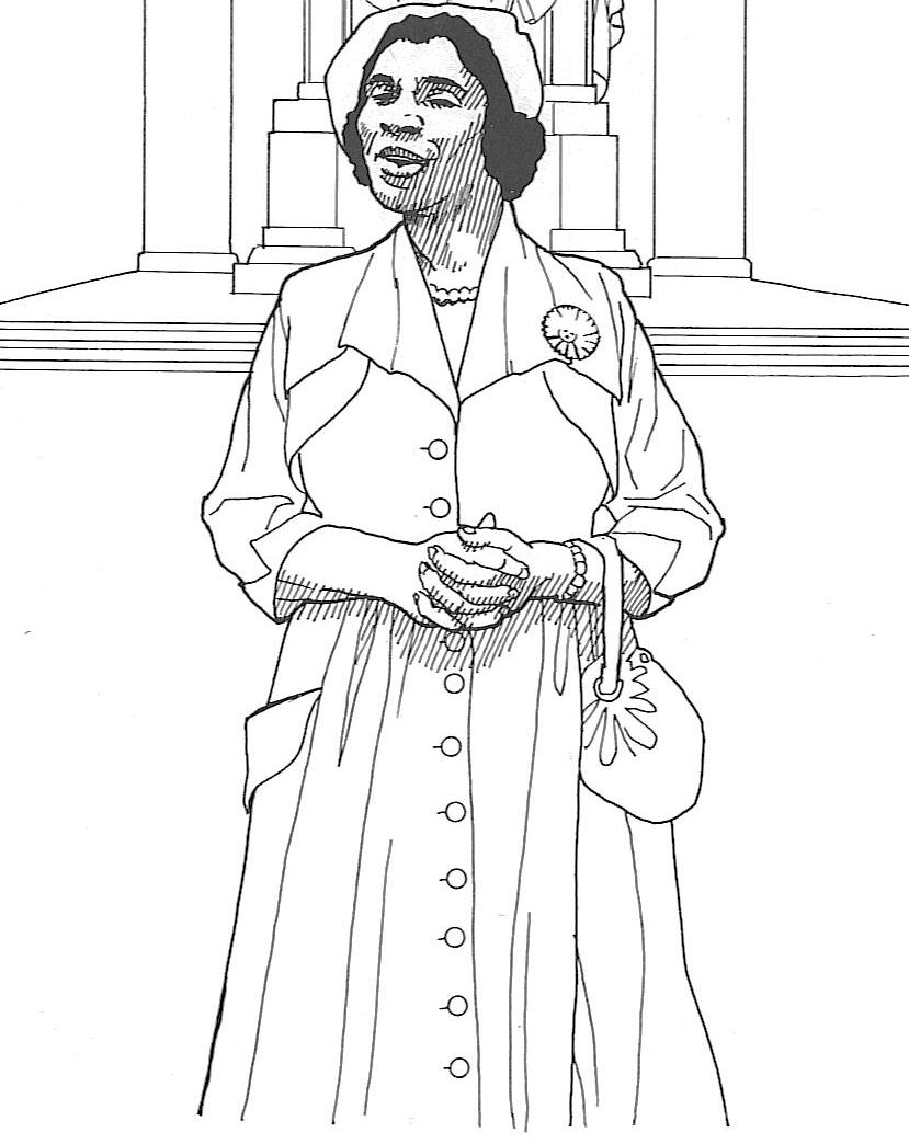 Hariett Tubman Coloring Sheet