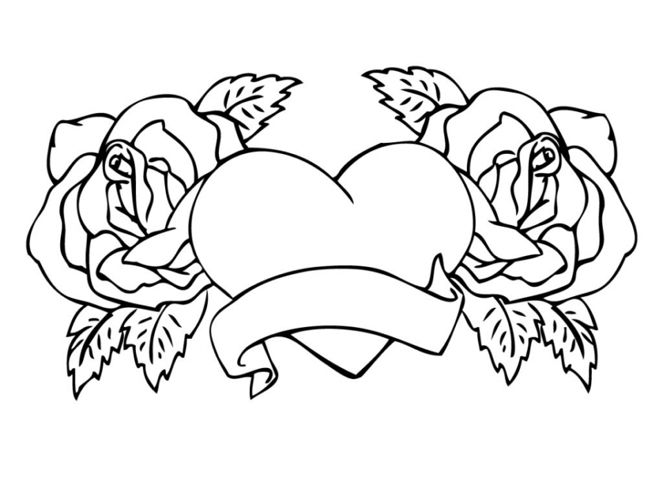 Valintines Coloring Page For Adults