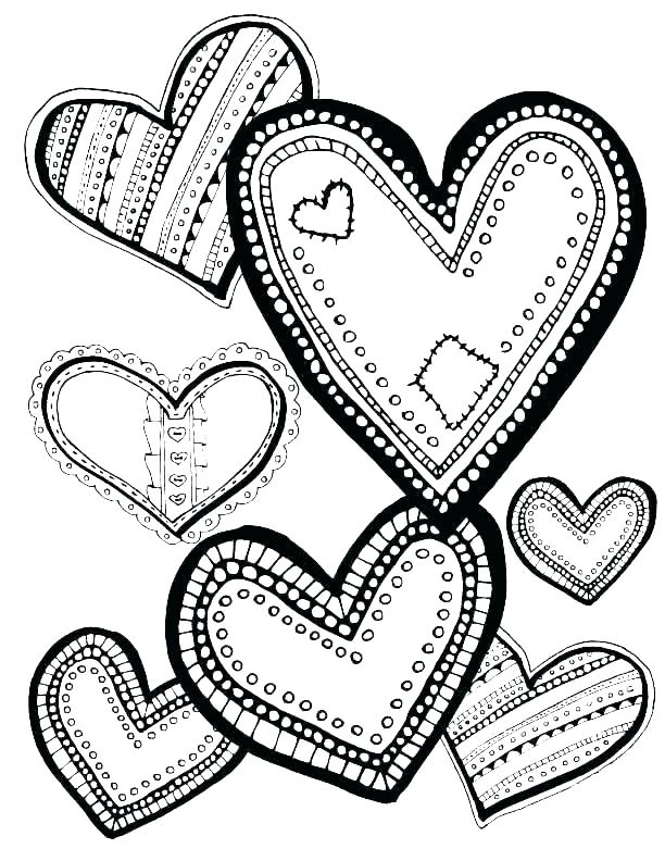 heart designs coloring pages - photo#34