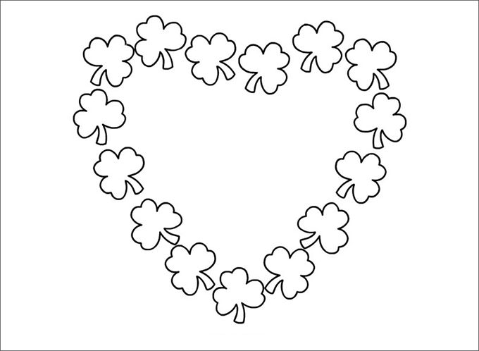 Heart o Samrocks Coloring Page