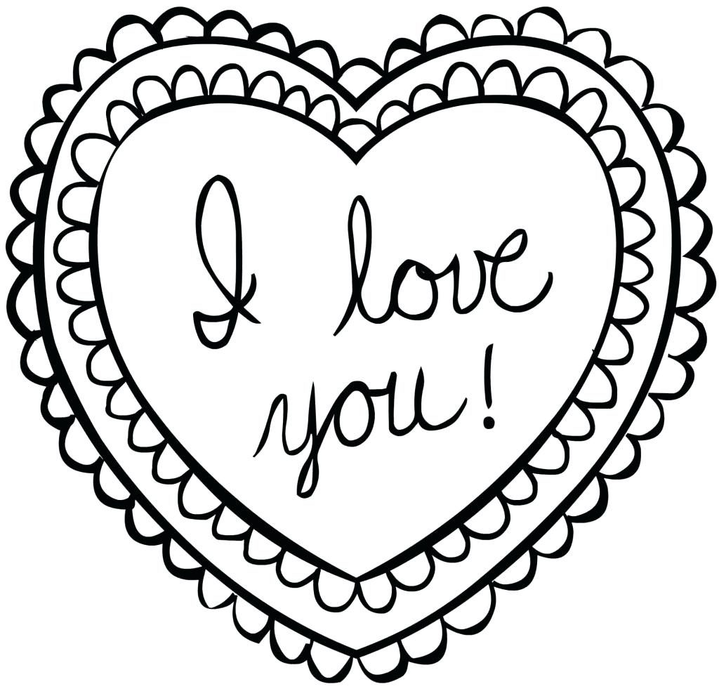 Valentine Heart Coloring Pages - Best Coloring Pages For Kids