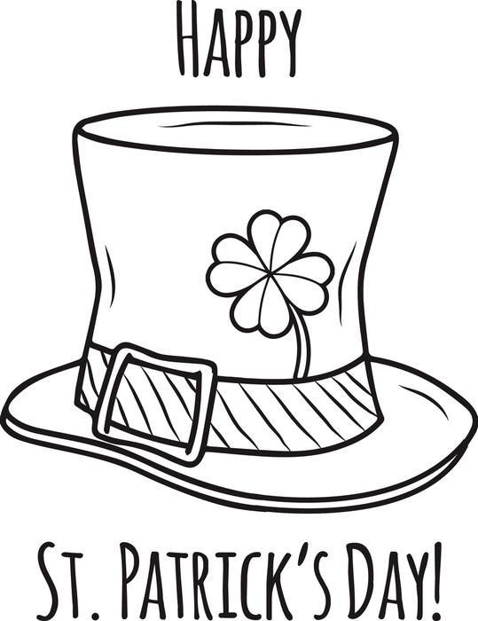 Leprechaun Hat - St Patricks Day Coloring Pages