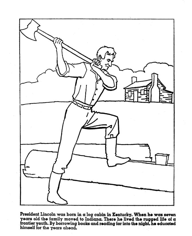 Lincoln Early Years Coloring Sheet