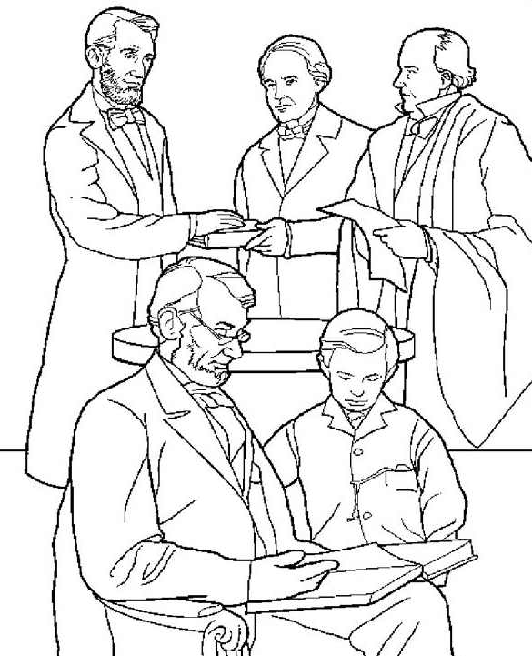 lincoln presidents day coloring pages