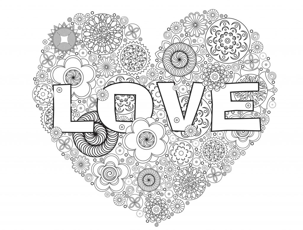 Love Heart - Valentines Day Coloring Pages for Adults