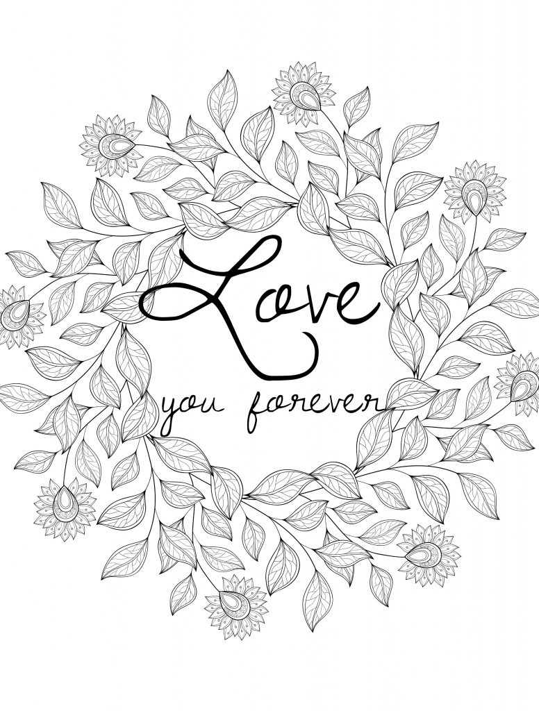 Love - Valentines Day Coloring Pages for Adults