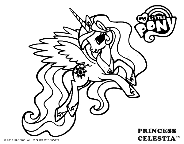 My Little Pony Princess Celestia Coloring
