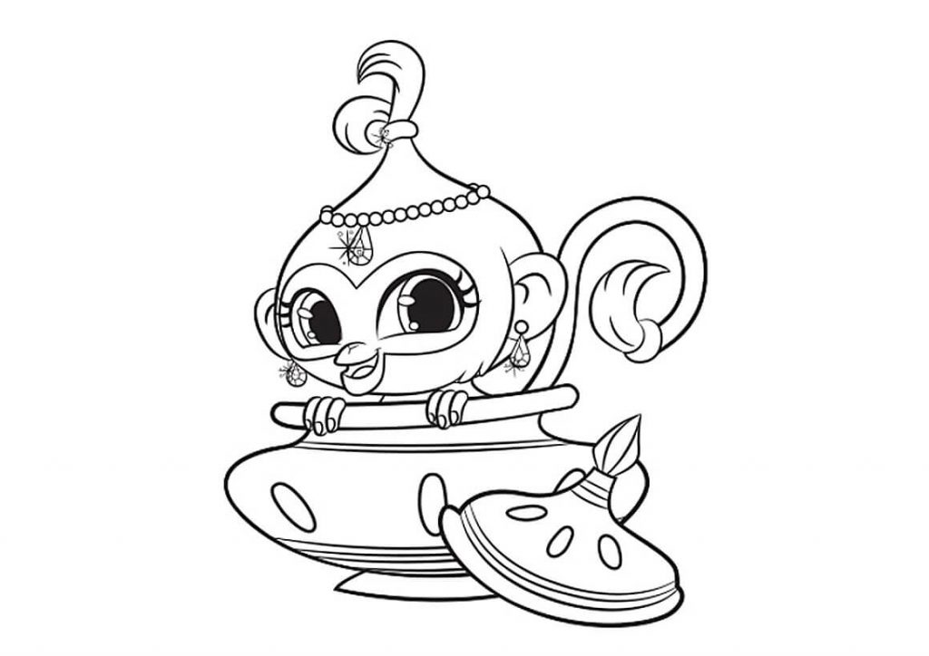 Nahal Shimmer and Shine Coloring Page