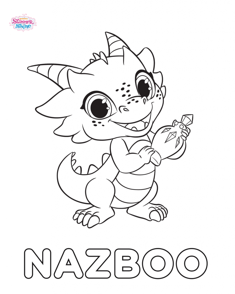 Nazboo - Shimmer and Shine Coloring Pages