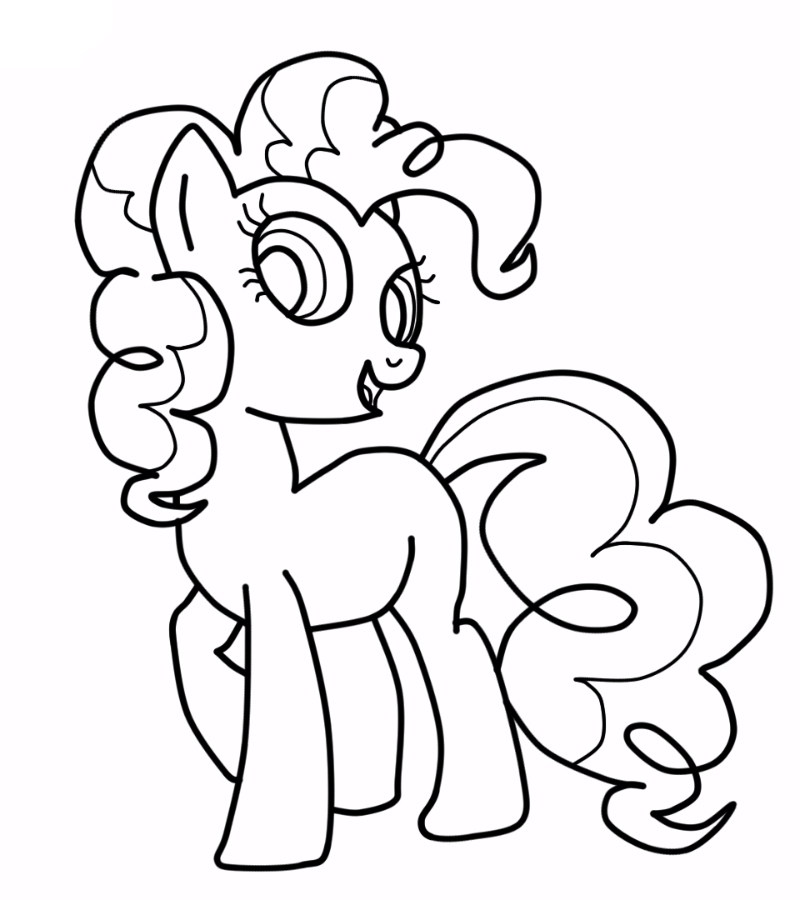 Pinkie Pie Coloring Page Free Printable