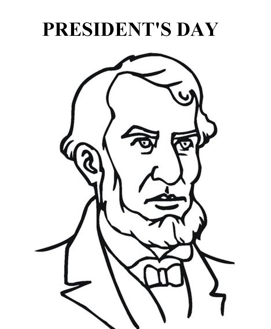 Presidents Day Coloring Page