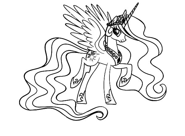 Princess Celestia Coloring Page My Little Pony Color