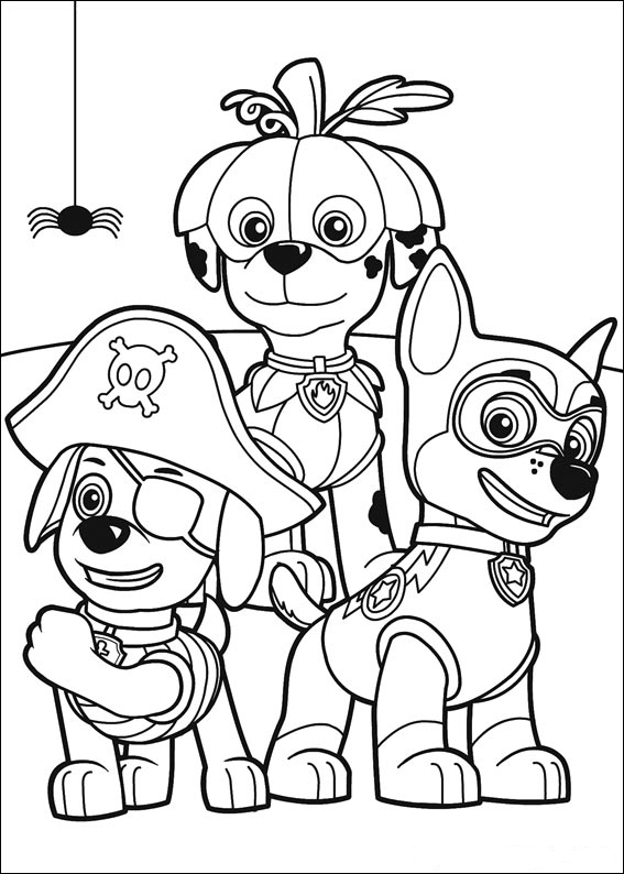 Print Paw Patrol Coloring Pages