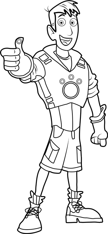 wild kratts coloring pages printable - photo#6