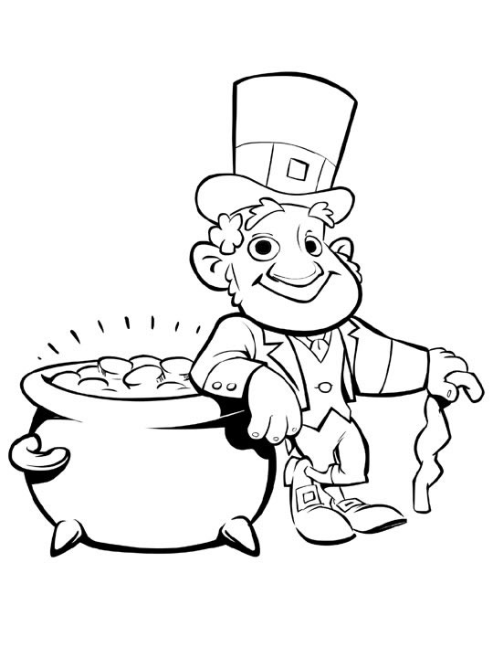 leprechuan coloring pages | Leprechaun Coloring Pages - Best Coloring Pages For Kids