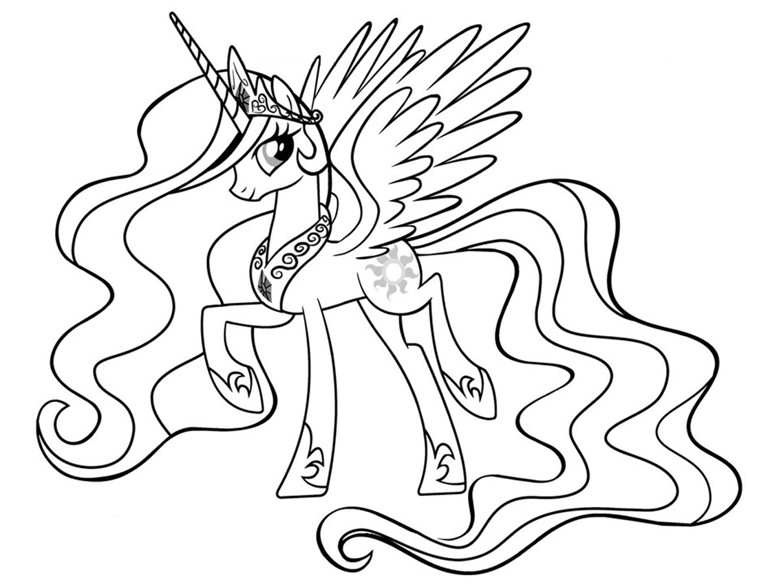 picture about Printable Princess Picture known as Princess Celestia Coloring Webpages - Great Coloring Webpages For Little ones