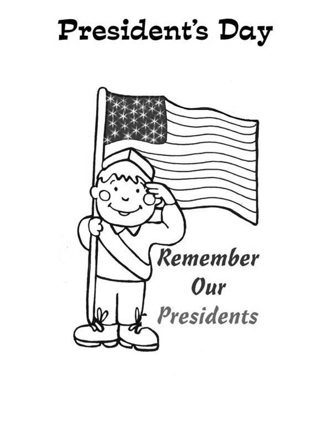 Remember Our Presidents Coloring Sheet