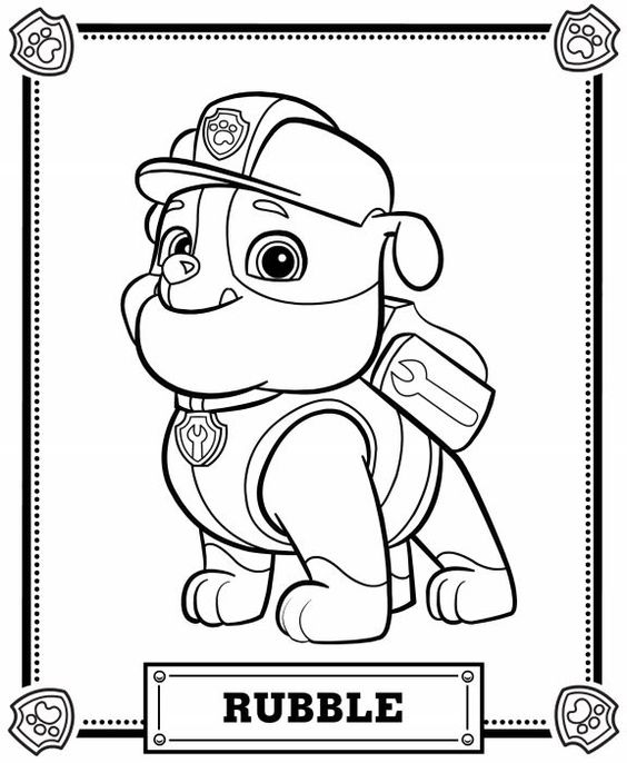 graphic relating to Printable Paw Patrol Coloring Pages referred to as Paw Patrol Coloring Webpages - Most straightforward Coloring Internet pages For Children