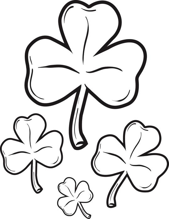 Shamrocks - St Patricks Day Coloring Page