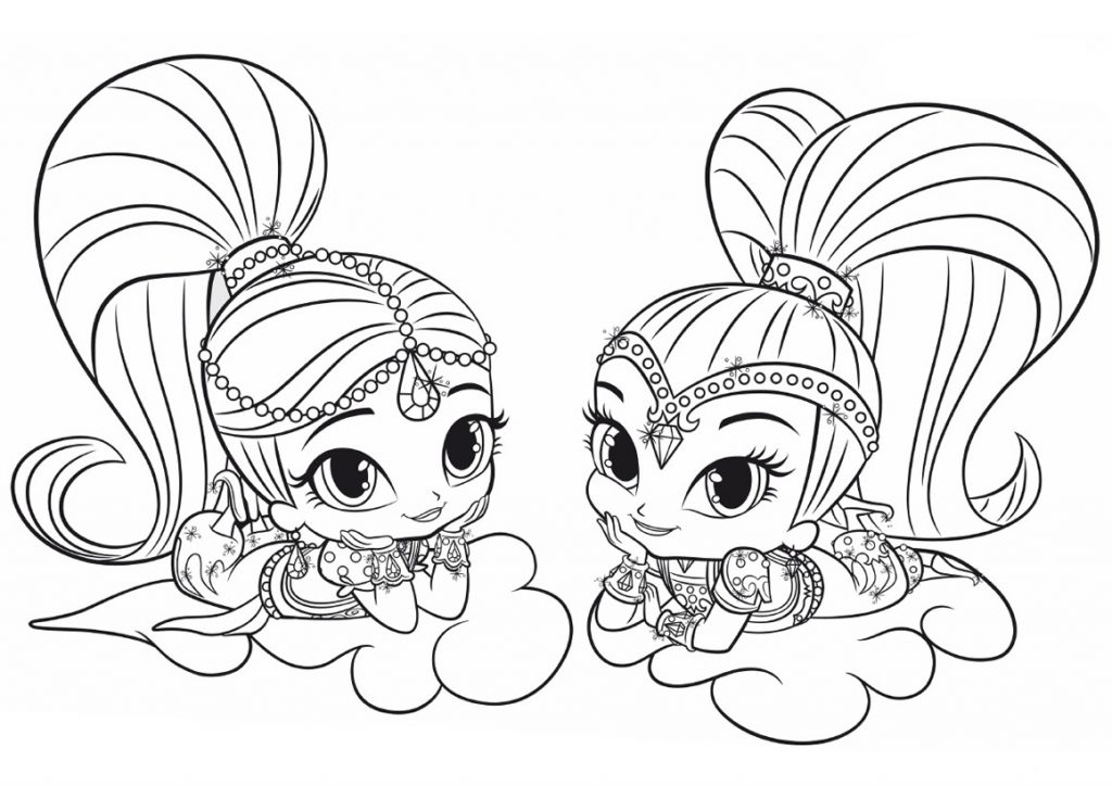 Coloring: Shimmer And Shine Coloring Pages