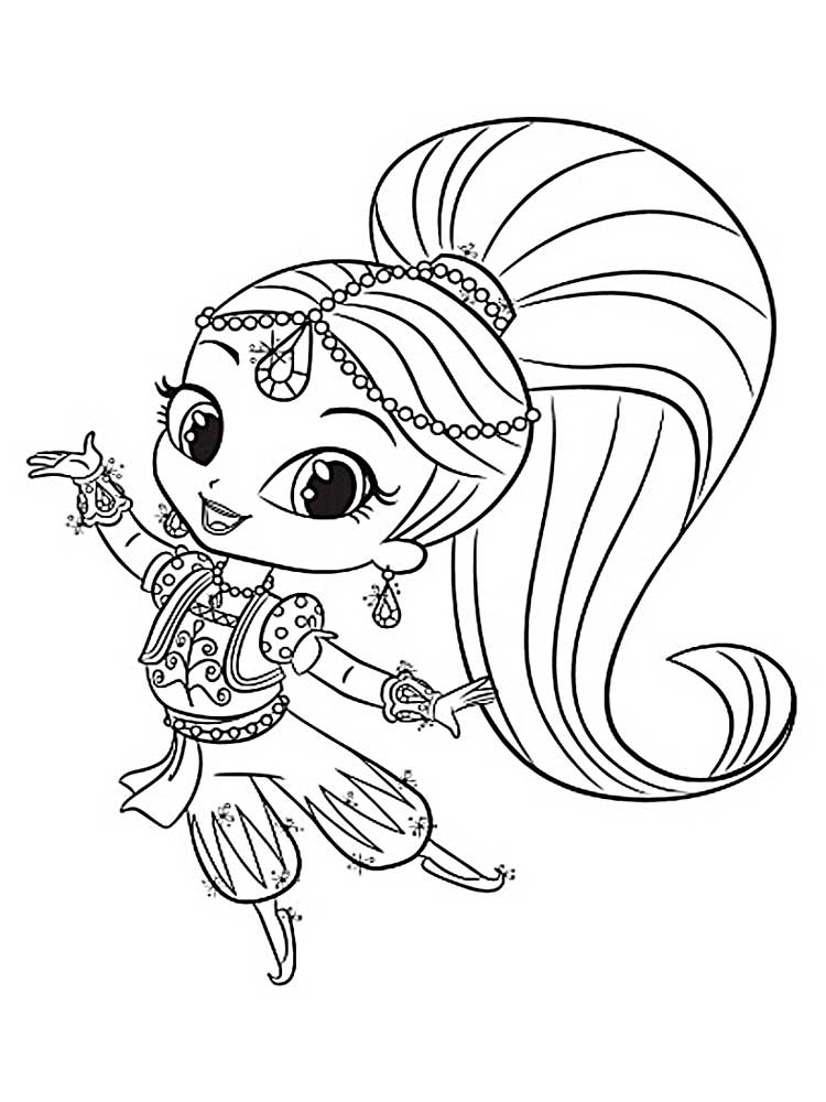 Luscious image intended for shimmer and shine printable coloring pages