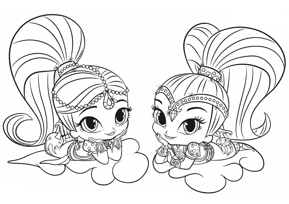 Shimmer And Shine Coloring Pages Best Coloring Pages For Kids