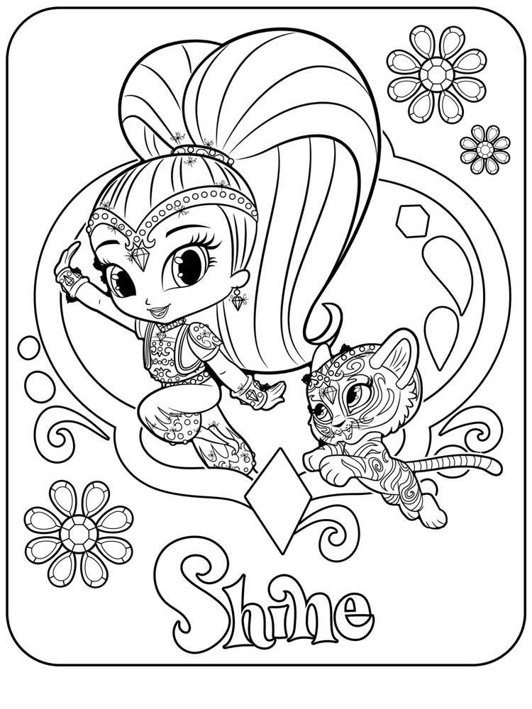 It's just an image of Persnickety shimmer and shine coloring book