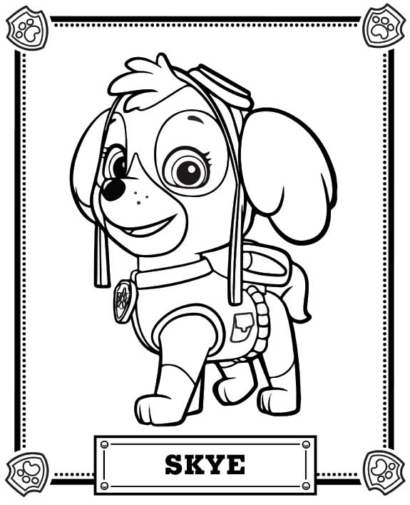 Skye - Paw Patrol Coloring Pages