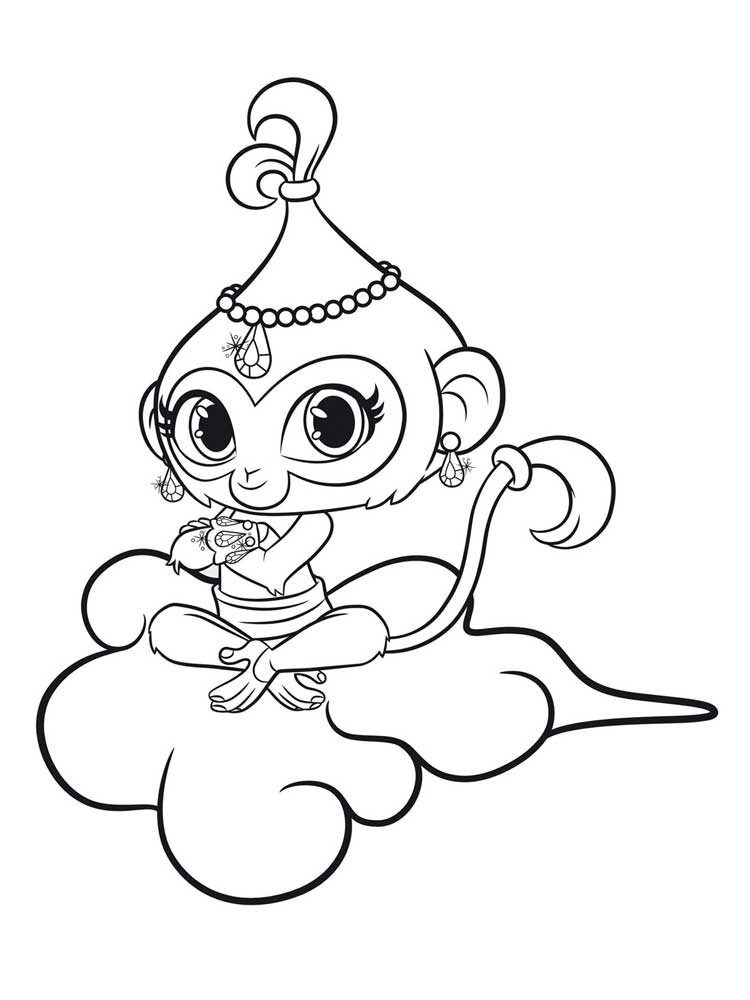 This is a picture of Rare Shimmer Shine Coloring Pages