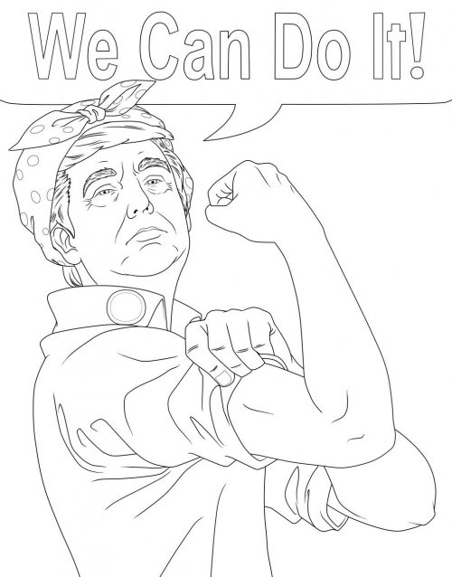 Trump Can Do It Coloring Page
