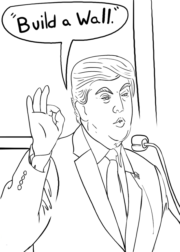 Trumps Wall Coloring Page