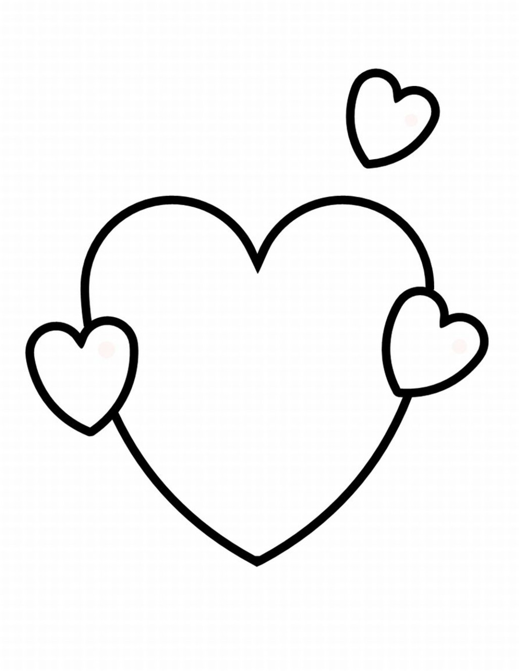 Heart Print Out Coloring Pages in 2020 | Heart coloring pages ... | 1328x1027