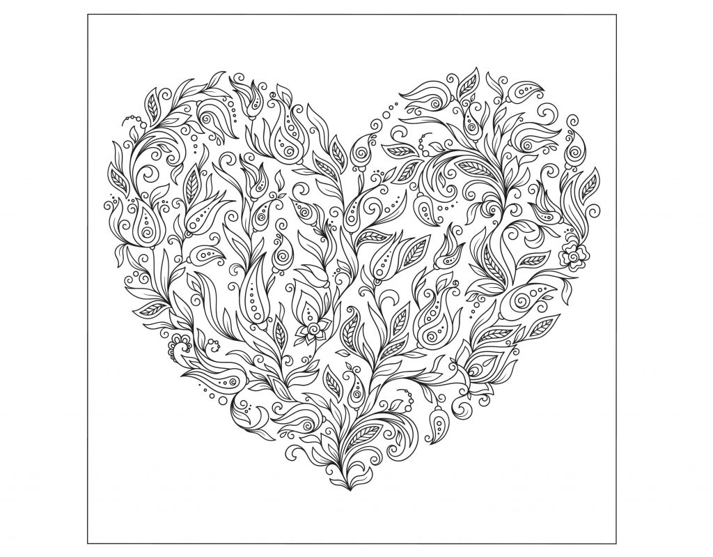 valentines day coloring pages for adults valentines day coloring pages for adults best coloring 7930