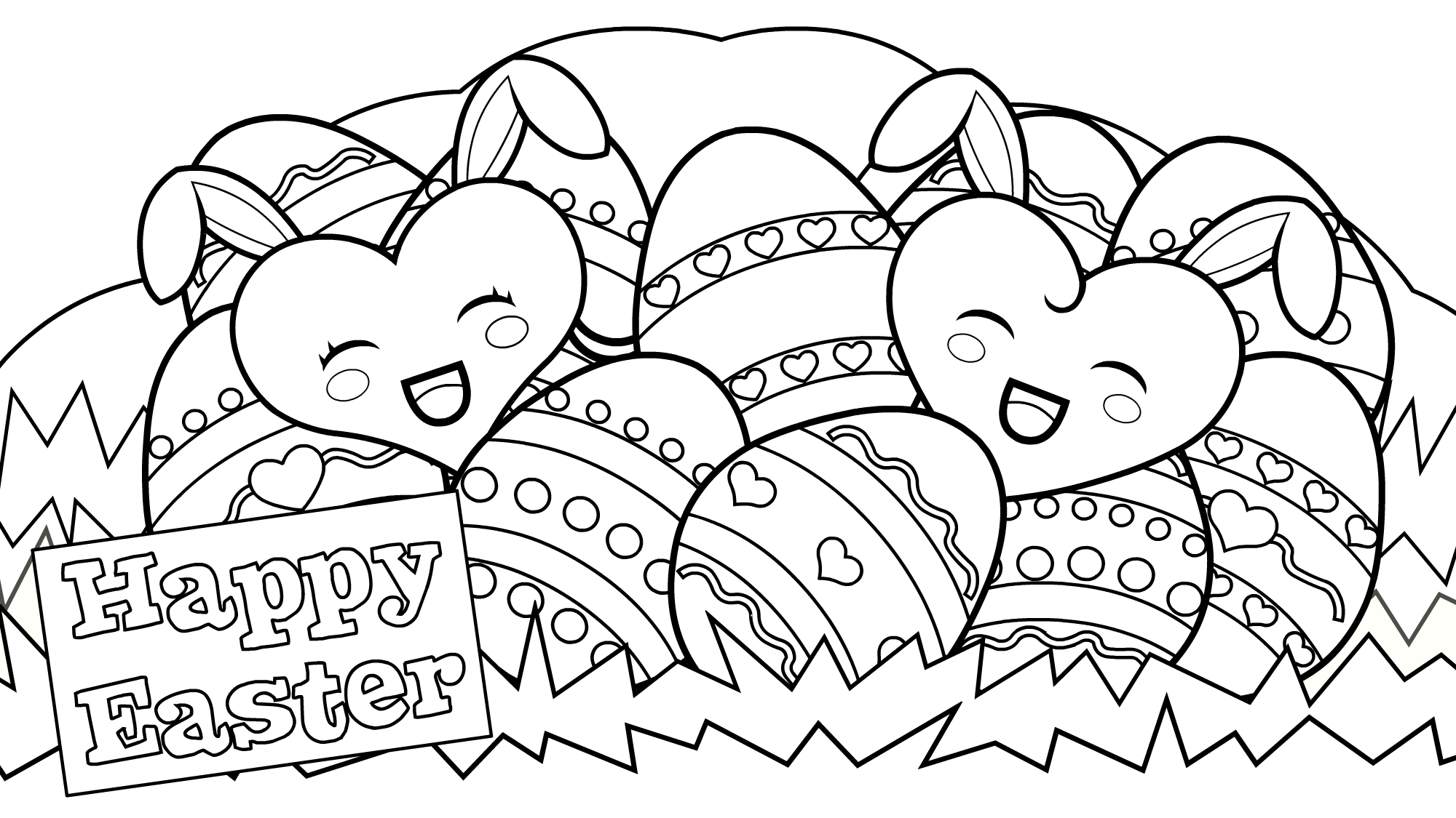 Happy Easter Coloring Pages - Best Coloring Pages For Kids