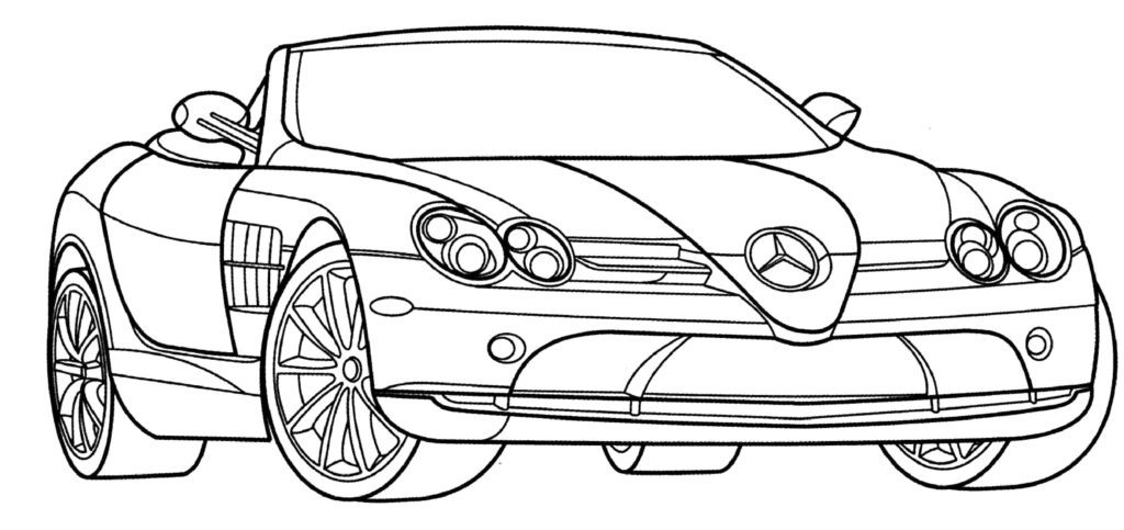 Car Coloring Page Printable