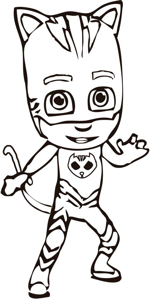 Catboy Character PJ Masks Coloring Pages