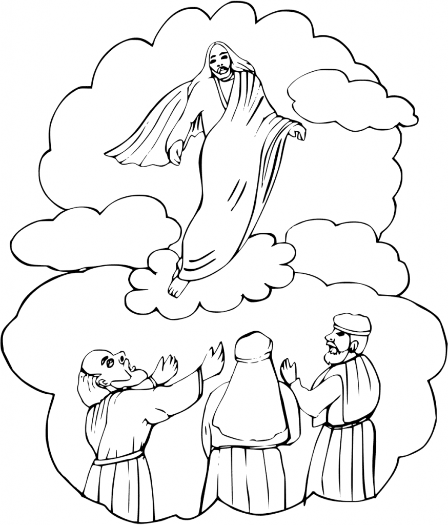 Christ Ascention Easter Coloring Page