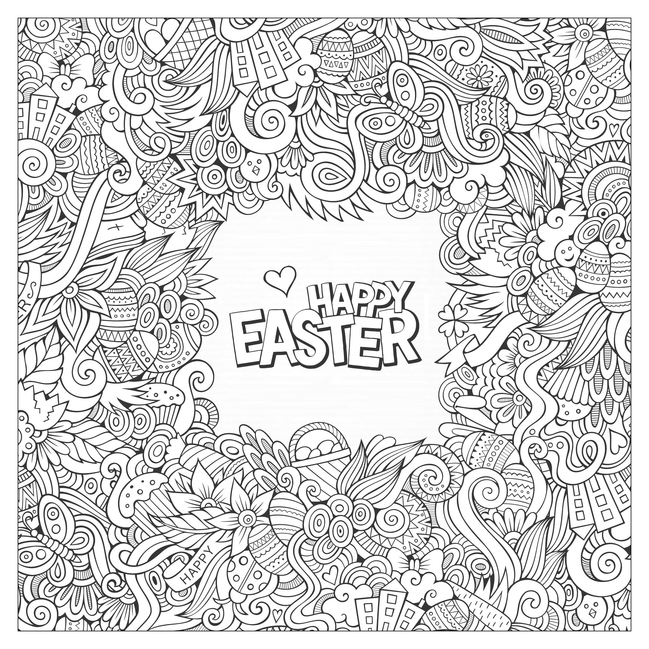Coloring Pages For Adults: Easter Coloring Pages For Adults
