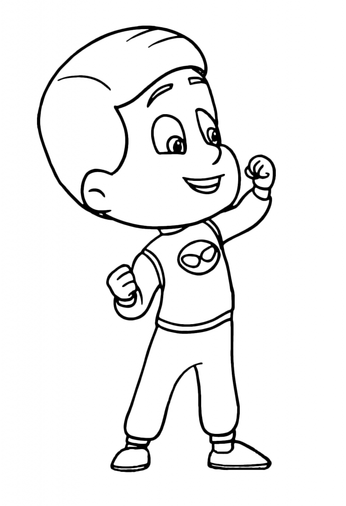 Connor PJ Masks Coloring Pages
