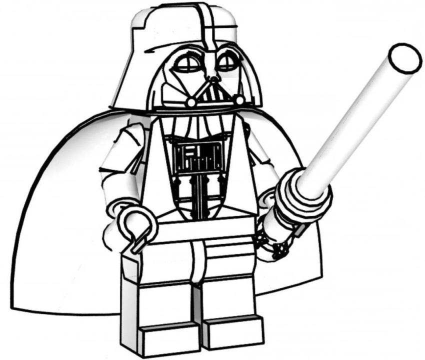 Darth Vader Lego Star Wars Coloring Pages