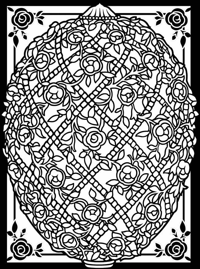 Difficult Easter Coloring Pages for Adults