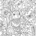 Easter Bunny Coloring Page for Adults